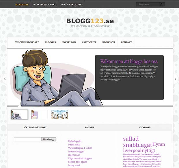 Blogg123 startsida