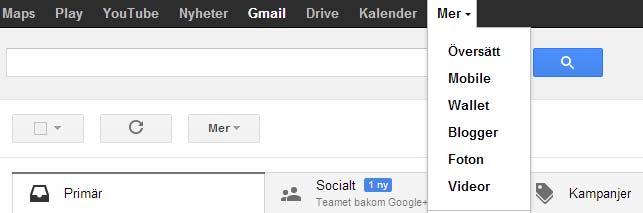 Google konto meny